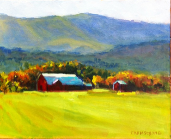 Autumn in the Blue Ridge Mountains 16x20