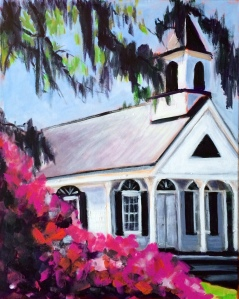Edisto Island, SC Church 16x20