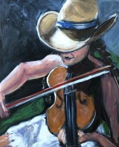 Girl Fiddler 11x14