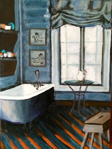 Morning Bath 12x16