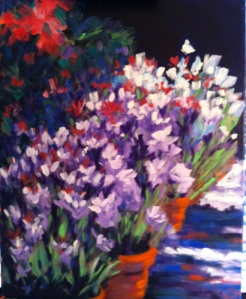Sidewalk Flowers 16x20