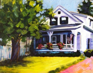 Small Town Bliss in America 16x20