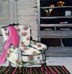 The Pink and Green Chair 12x12