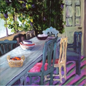 The Vineyard Table and Chairs - SOLD