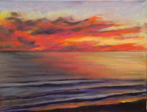 Emerald Isle Sunset 11 x 14