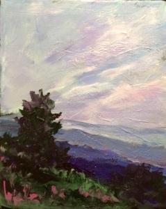 Purple Sky 8 x 10