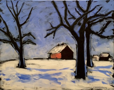 Cold Blue Day 16 x 20
