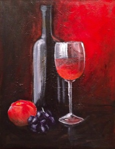 Wine and Fruit 11 x 14
