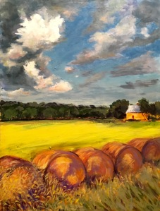 Kansas Hayfield 16 x 20 $500