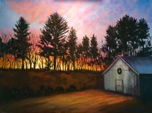 Sunset Through the Pines  18 x 24  $800