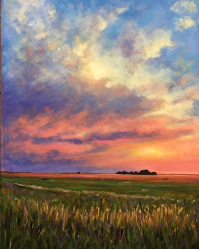 And Then Came the Sunrise 18 x 24 $650